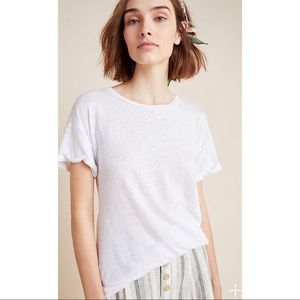Laissez Faire Edison Linen T-shirt Top White XS